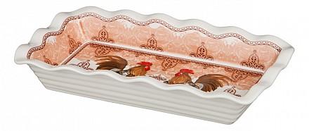 Блюдо декоративное (27х15х4.5 см) Петух 388-477