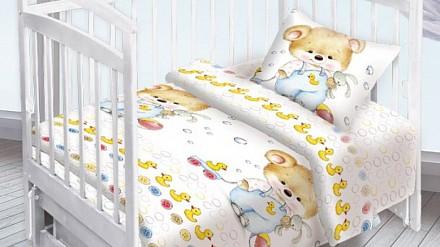 Детское постельное белье Мишка с уточкой