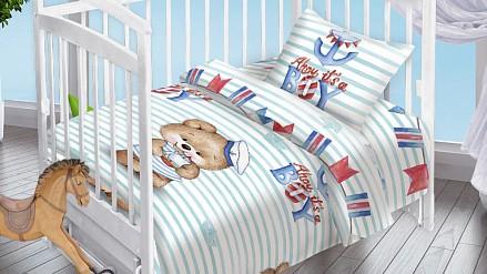 Постельное белье детское Мишка-Морячок