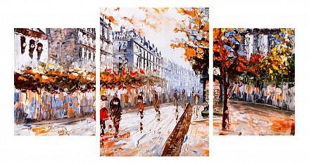 Набор из 3 панно (100х550 см) Осенняя улица 1810048М55100