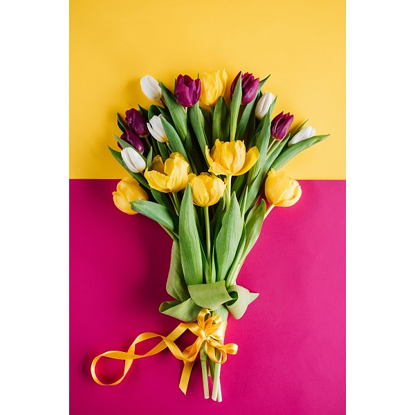 Картина (60х90 см) Букет весенних тюльпанов HE-101-675 фото