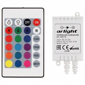 Контроллер-регулятор цвета RGB с пультом ДУ LN-IR24B-RGB (12-24V, 3x2A, ПДУ Карта 24 кн)