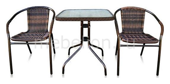 Набор уличный Afina Асоль-2B TLH-037B/073B-60х60 Brown стол afina garden асоль cdt01 d60