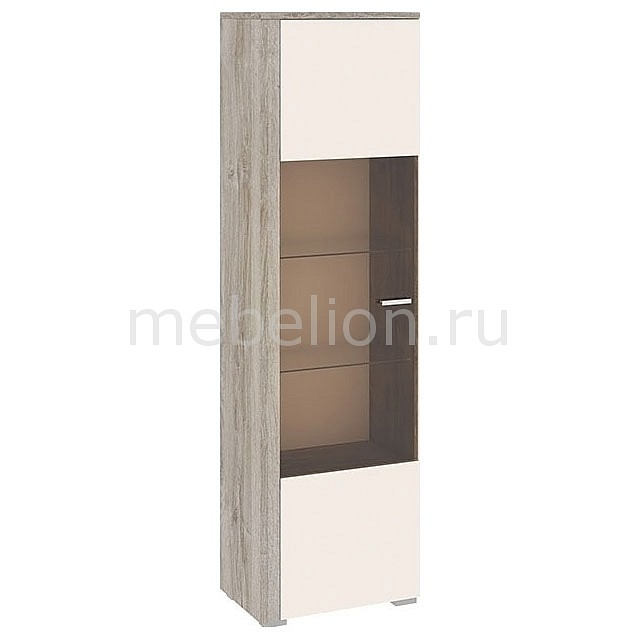 Шкаф-витрина Эйва ТД-195.03 дуб верцаска/бежевый