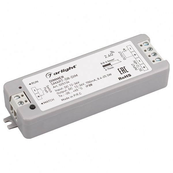 Контроллер-диммер SMART-D8-DIM (12-36V, 1x700mA)