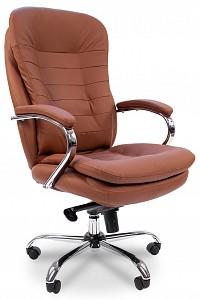 Кресло для руководителя Chairman 795 коричневый/хром, черный