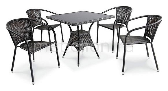 Набор уличный Afina T197BNS/Y137B-W51 Brown 4Pcs комплект мебели из ротанга афина мебель t282bnt w53 y90c w51 2pcs