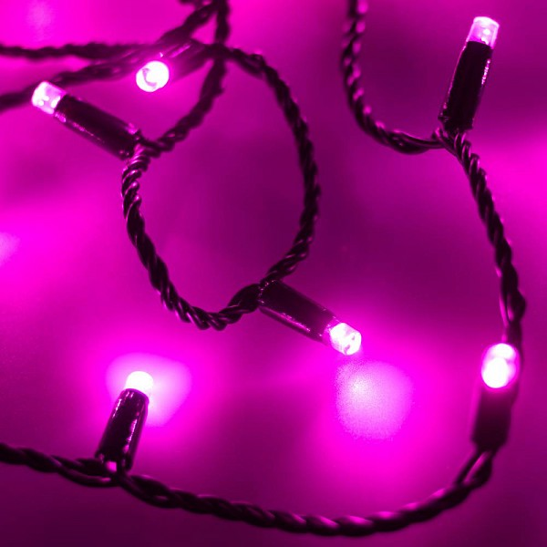Гирлянда нить [10 м] String ARD-STRING-CLASSIC-10000-BLACK-100LED-STD PINK (230V, 7W)