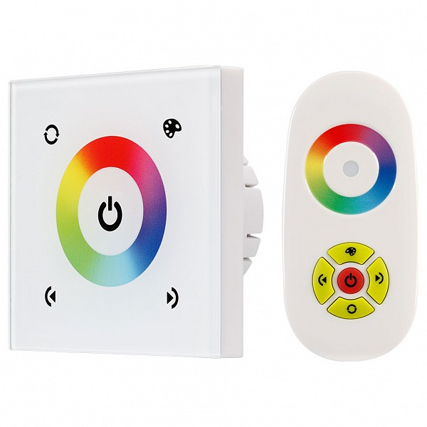 Регулятор цвета RGBW сенсорный встраиваемый с пультом ДУ Sens LN-082-RGB White (RF,12-24V, 144-288W)