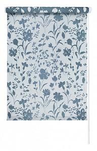 Штора рулонная Ирисы 42.5x175 см., цвет голубой