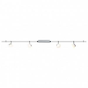 Спот поворотный Glassled, 4 лампы  по 4 Вт., 1.24 м², цвет никель матовый
