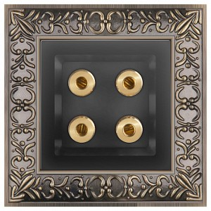 Розетка акустические Antik (Черный матовый) WL08-70-11+WL08-AUDIOx4