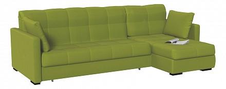 Угловой диван Парма зеленый