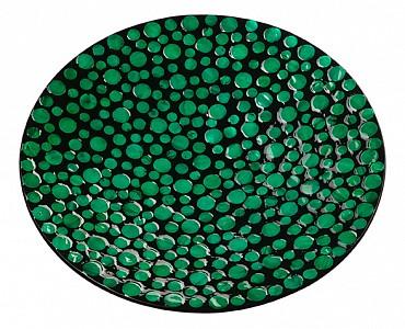 Блюдо декоративное (40х6 см) Малахитовые кольца VP-06
