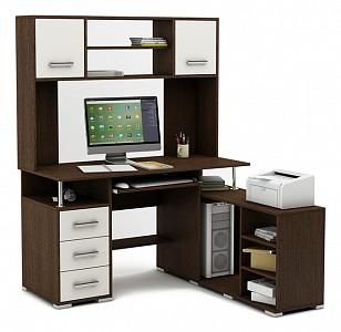 Угловой компьютерный стол Амбер-24 MAS_KSAM-24-VB