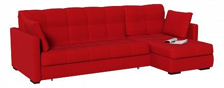 Угловой диван Парма красный
