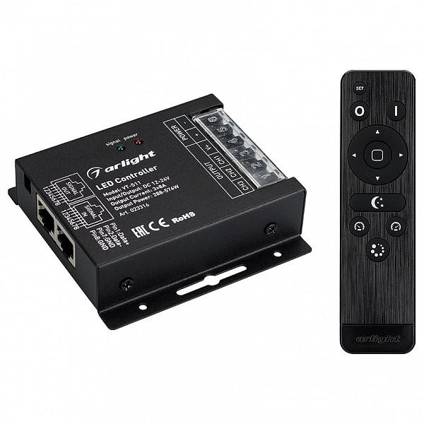 Контроллер-регулятор цвета RGB с пультом ДУ VT-S11-3x8A (12-24V, ПДУ Стик 12кн, RF)