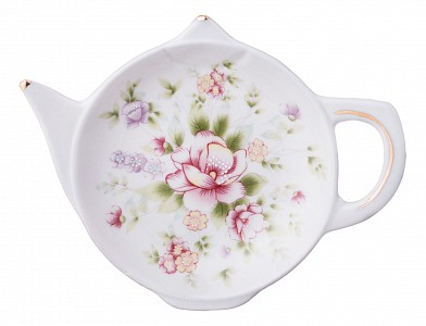 Подставка под чайные пакетики (12x9x2 см) Екатерина 54-358