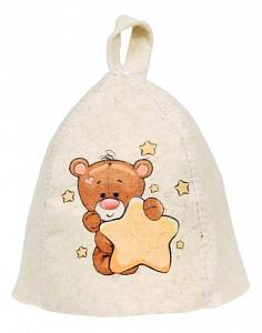Шапка для бани детская Мишка