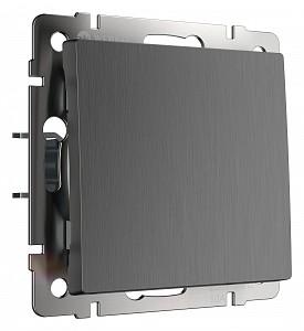 Выключатель проходной одноклавишный без рамки графит рифленый W1112004