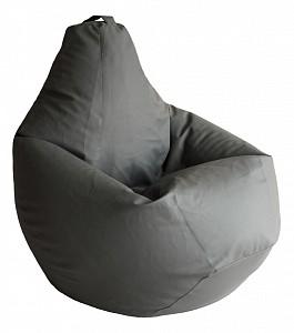Кресло-мешок Серая ЭкоКожа 3XL 150*110 см