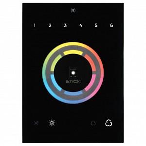 Панель-регулятора ЦТ и цвета RGB сенсорная встраиваемая Sunlite STICK-CU4 Black