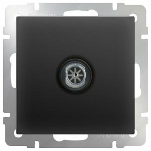 ТВ-розетка проходная без рамки Черный матовый WL08-TV-2W