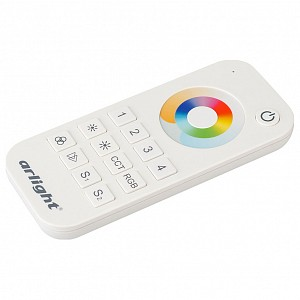 Пульт-регулятора цвета RGBW с сенсорным кольцом SMART-R SMART-R20-MULTI White (4 зоны, 2.4G)