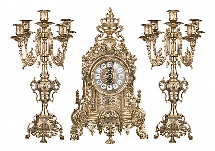 Набор из часов и 2 подсвечников Art 333-097