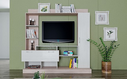 Стенка под телевизор Верона SLV_NM_040_27