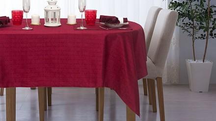 Скатерь с салфетками (140x140 см) Ромбы