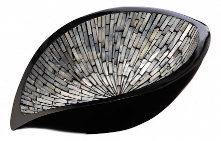 Блюдо декоративное (40х14 см) Серебряная россыпь VP-25