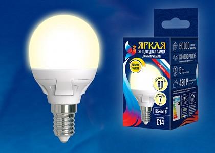 Лампа светодиодная [LED] Uniel E14 7W 3000K
