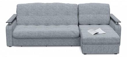 Угловой диван Денвер серый, рогожка