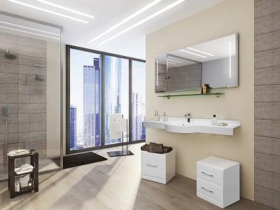 Набор для ванной Акватон Отель 150 белый