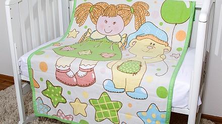 Одеяло детское Девочка и мишка