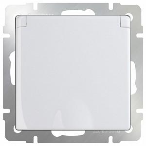 Розетка влагозащищенная с заземлением с крышкой со шторками, без рамки Белый WL01-SKGSC-01-IP44