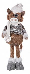 Мягкая игрушка (12х6х39 см) Теленок Вилли в вязаном свитере 476-139