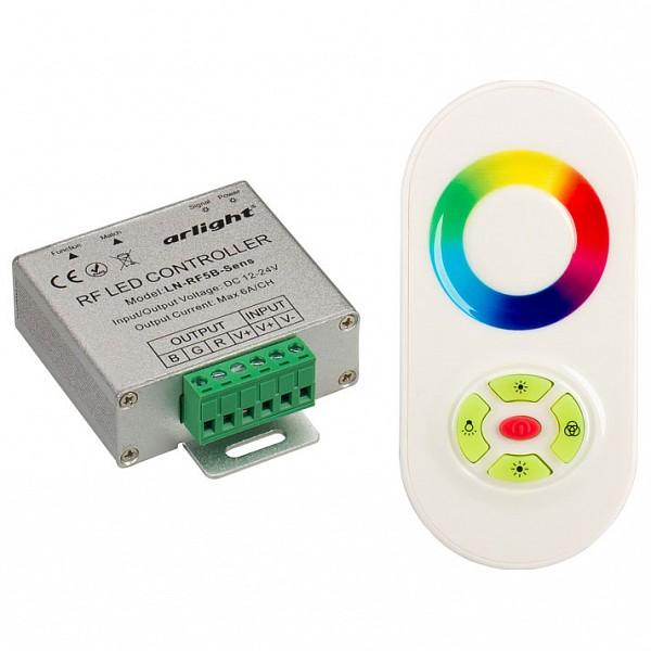 Контроллер-регулятор цвета RGB с пультом ДУ LN-RF5B-Sens White (12-24V,180-360W)