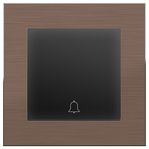 Кнопка звонка Aluminium (Черный матовый) WL07-TV+WL08-04-01