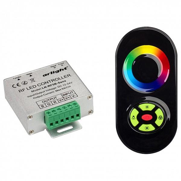 Контроллер-регулятор цвета RGB с пультом ДУ LN-RF5B-Sens Black (12-24V,180-360W)