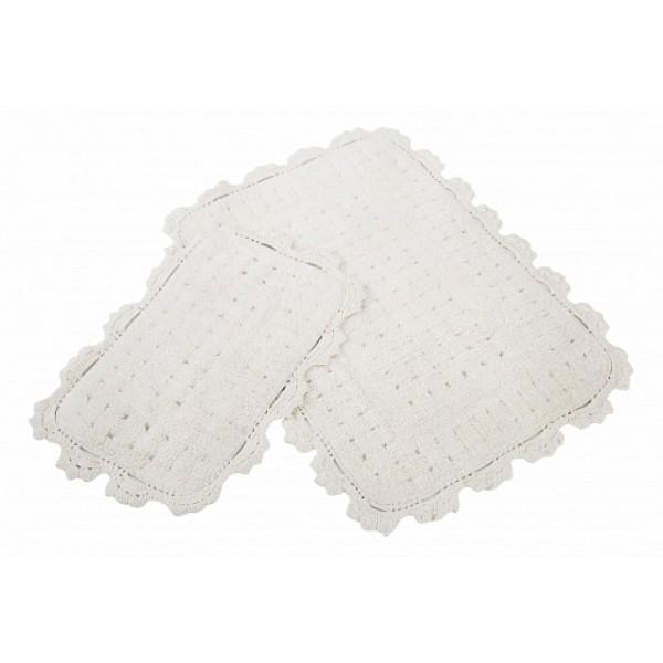 Набор из 2 ковриков для ванной (NONE) Mina DTX_MINA_EKRU-1057