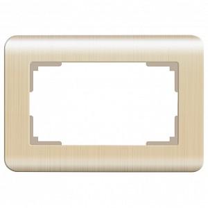 Рамка для двойной розетки Шампань рифленый WL12-Frame-01-DBL