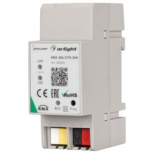 Конвертер электросигнала в радиосигнал Intelligent KNX-304-ETH-DIN (BUS)