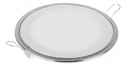 Встраиваемый светильник Downlight DLR006 12W 4200K PS/N перламутровый серебро/никель
