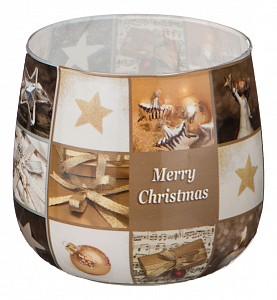 Свеча декоративная (6x7 см) Merry Christmas 348-437