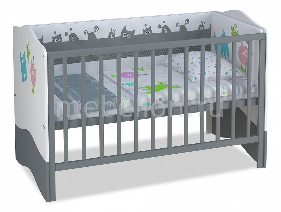 Кроватка Polini Basic Монстрики