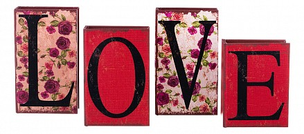Набор из 4 шкатулок для украшений Love 706-303