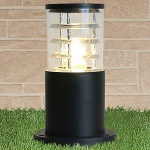 Наземный низкий светильник 1508 TECHNO black черный