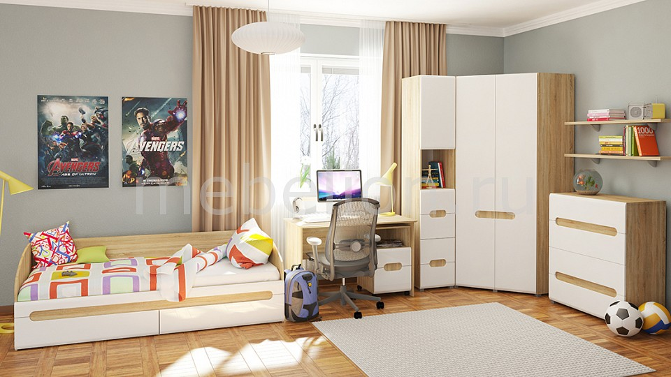 Комод детский Мебель-Неман NEM_Leonardo_childrensroom_system_1 от Mebelion.ru